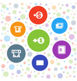7 transaction icons vector image vector image