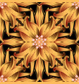 abstract floral 3d seamless pattern vector image vector image