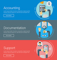 Accounting Documentation Support Flat Design vector image vector image