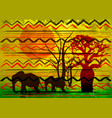 african print fabric ethnic savannah safari batik vector image