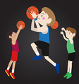 basketball player cartoon vector image vector image