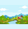 beautiful spring season landscape view vector image vector image