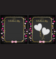 black valentine day banner vector image