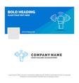blue business logo template for dumbbell gain vector image