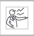 boss scream concept thin line icon symbol vector image vector image