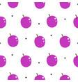 bright plum violet summer juicy cartoon seamless vector image