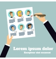 Business stuff selection poster vector image