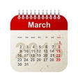 calendar 2015 - march vector image