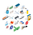 carry over icons set isometric style vector image vector image