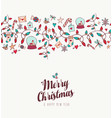christmas and new year cute greeting card pattern vector image vector image