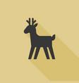 christmas reindeer icon vector image vector image