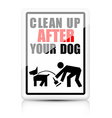 Clean after your dog vector image vector image