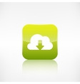 Cloud download icon Application button vector image vector image
