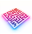 Colorful maze labyrinth vector image