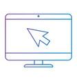 computer desktop with arrow mouse vector image vector image