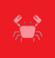 crab paper cut out icon vector image