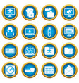 criminal activity icons blue circle set vector image vector image