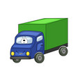 cute cartoon green truck vector image vector image