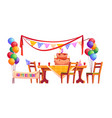 decoration for birthday party outside vector image vector image