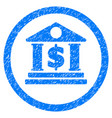 dollar bank rounded grainy icon vector image vector image