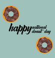 donut national day vector image