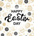 easter letter pattern vector image vector image