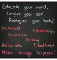 Educate your mind inspire your soul vector image