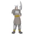 elegant samurai vector image vector image