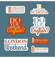 English Language Set vector image