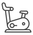 exercise bike line icon gym bicycle vector image