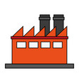 factory cartoon flat vector image vector image