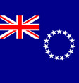 flag of cook islands new zealand avarua vector image