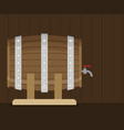 flat wooden barrel icon vector image