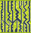 green geometric seamless pattern vector image