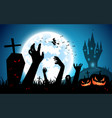 halloween festival backgroundfull moon on dark vector image vector image