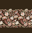 handcrafted motifs - seamless floral border with vector image vector image