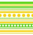 horizontal stripes and circles seamless vector image