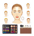 infographic woman faces highlighting vector image vector image