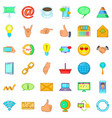 interface icons set cartoon style vector image vector image