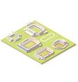 Isometric stadium buildings set vector image