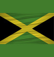 jamaica flag flag of jamaica blowig in the wind vector image
