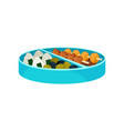 japanese food in blue lunch box asian concept vector image vector image
