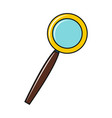 magnifier icon isolated on a white background vector image vector image