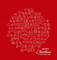 merry christmas icon banner template creative vector image