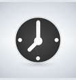 minimalistic black clock icon mechanical watch vector image vector image