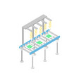 modern mechanical conveyor isometric 3d icon vector image