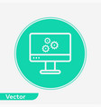 monitor settings icon sign symbol vector image vector image