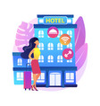 motel service abstract concept vector image vector image