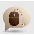 Mouse sign Brown gradient icon on vector image vector image