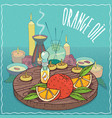 orange oil used for aromatherapy vector image vector image